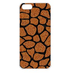 Skin1 Black Marble & Rusted Metal (r) Apple Iphone 5 Seamless Case (white) by trendistuff