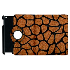 Skin1 Black Marble & Rusted Metal (r) Apple Ipad 3/4 Flip 360 Case by trendistuff