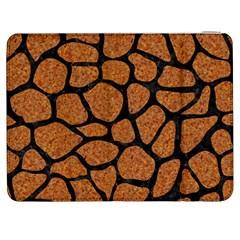 Skin1 Black Marble & Rusted Metal (r) Samsung Galaxy Tab 7  P1000 Flip Case