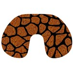 SKIN1 BLACK MARBLE & RUSTED METAL (R) Travel Neck Pillows Back