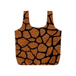 SKIN1 BLACK MARBLE & RUSTED METAL (R) Full Print Recycle Bags (S)  Front