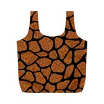 SKIN1 BLACK MARBLE & RUSTED METAL (R) Full Print Recycle Bags (M)  Back