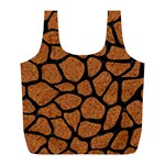 SKIN1 BLACK MARBLE & RUSTED METAL (R) Full Print Recycle Bags (L)  Back