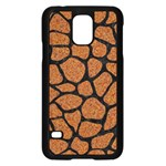 SKIN1 BLACK MARBLE & RUSTED METAL (R) Samsung Galaxy S5 Case (Black) Front