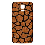 SKIN1 BLACK MARBLE & RUSTED METAL (R) Samsung Galaxy S5 Back Case (White)