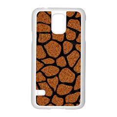 Skin1 Black Marble & Rusted Metal (r) Samsung Galaxy S5 Case (white) by trendistuff