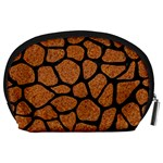 SKIN1 BLACK MARBLE & RUSTED METAL (R) Accessory Pouches (Large)  Back