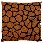 SKIN1 BLACK MARBLE & RUSTED METAL (R) Large Flano Cushion Case (One Side)