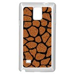 SKIN1 BLACK MARBLE & RUSTED METAL (R) Samsung Galaxy Note 4 Case (White) Front