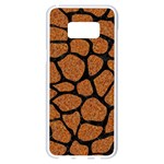 SKIN1 BLACK MARBLE & RUSTED METAL (R) Samsung Galaxy S8 Plus White Seamless Case