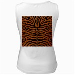SKIN2 BLACK MARBLE & RUSTED METAL Women s White Tank Top Back