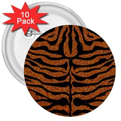 Skin2 Black Marble & Rusted Metal 3  Buttons (10 Pack)