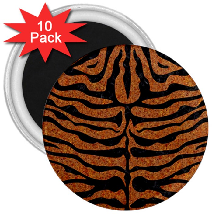 SKIN2 BLACK MARBLE & RUSTED METAL 3  Magnets (10 pack)