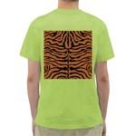 SKIN2 BLACK MARBLE & RUSTED METAL Green T-Shirt Back