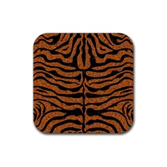 SKIN2 BLACK MARBLE & RUSTED METAL Rubber Coaster (Square)