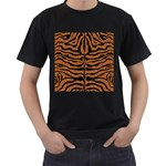 SKIN2 BLACK MARBLE & RUSTED METAL Men s T-Shirt (Black) (Two Sided) Front