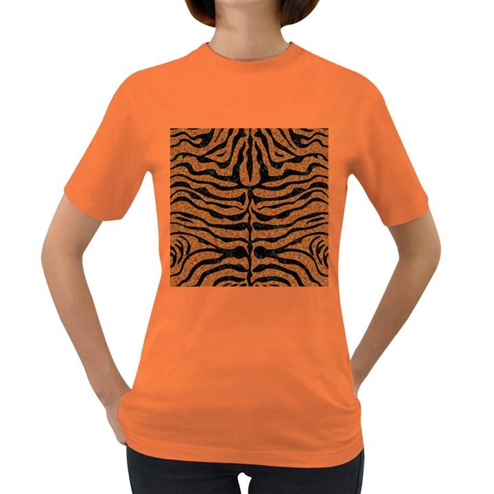 SKIN2 BLACK MARBLE & RUSTED METAL Women s Dark T-Shirt