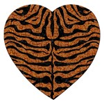 SKIN2 BLACK MARBLE & RUSTED METAL Jigsaw Puzzle (Heart)