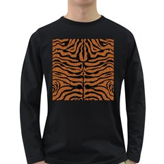 Skin2 Black Marble & Rusted Metal Long Sleeve Dark T Shirts