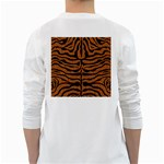 SKIN2 BLACK MARBLE & RUSTED METAL White Long Sleeve T-Shirts Back