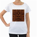 SKIN2 BLACK MARBLE & RUSTED METAL Women s Loose-Fit T-Shirt (White)