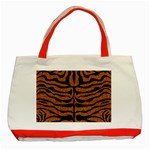 SKIN2 BLACK MARBLE & RUSTED METAL Classic Tote Bag (Red)