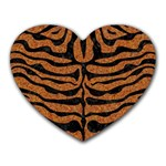 SKIN2 BLACK MARBLE & RUSTED METAL Heart Mousepads