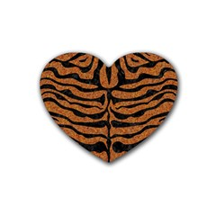 Skin2 Black Marble & Rusted Metal Heart Coaster (4 Pack)