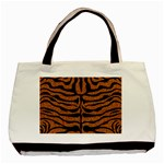 SKIN2 BLACK MARBLE & RUSTED METAL Basic Tote Bag (Two Sides)