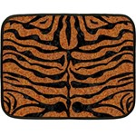 SKIN2 BLACK MARBLE & RUSTED METAL Double Sided Fleece Blanket (Mini)  35 x27 Blanket Front