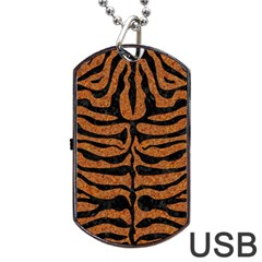 Skin2 Black Marble & Rusted Metal Dog Tag Usb Flash (two Sides) by trendistuff