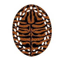 SKIN2 BLACK MARBLE & RUSTED METAL Ornament (Oval Filigree)