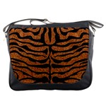 SKIN2 BLACK MARBLE & RUSTED METAL Messenger Bags Front