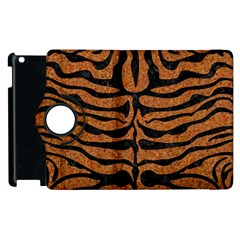 Skin2 Black Marble & Rusted Metal Apple Ipad 3/4 Flip 360 Case