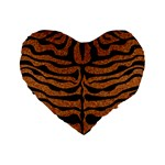 SKIN2 BLACK MARBLE & RUSTED METAL Standard 16  Premium Heart Shape Cushions Front