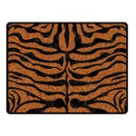 SKIN2 BLACK MARBLE & RUSTED METAL Double Sided Fleece Blanket (Small)