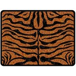 SKIN2 BLACK MARBLE & RUSTED METAL Double Sided Fleece Blanket (Large)