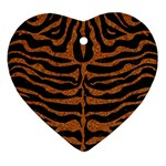 SKIN2 BLACK MARBLE & RUSTED METAL (R) Ornament (Heart)