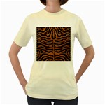 SKIN2 BLACK MARBLE & RUSTED METAL (R) Women s Yellow T-Shirt