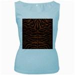 SKIN2 BLACK MARBLE & RUSTED METAL (R) Women s Baby Blue Tank Top