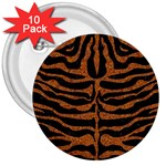 SKIN2 BLACK MARBLE & RUSTED METAL (R) 3  Buttons (10 pack)