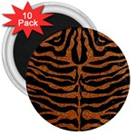 SKIN2 BLACK MARBLE & RUSTED METAL (R) 3  Magnets (10 pack)  Front