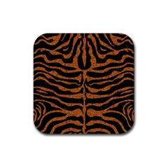 Skin2 Black Marble & Rusted Metal (r) Rubber Square Coaster (4 Pack)  by trendistuff