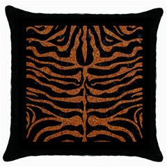Skin2 Black Marble & Rusted Metal (r) Throw Pillow Case (black) by trendistuff