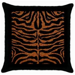 SKIN2 BLACK MARBLE & RUSTED METAL (R) Throw Pillow Case (Black)