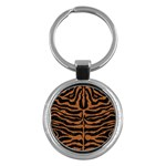 SKIN2 BLACK MARBLE & RUSTED METAL (R) Key Chains (Round)