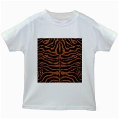 SKIN2 BLACK MARBLE & RUSTED METAL (R) Kids White T-Shirts