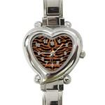 SKIN2 BLACK MARBLE & RUSTED METAL (R) Heart Italian Charm Watch