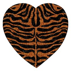 SKIN2 BLACK MARBLE & RUSTED METAL (R) Jigsaw Puzzle (Heart)