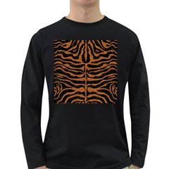 Skin2 Black Marble & Rusted Metal (r) Long Sleeve Dark T Shirts